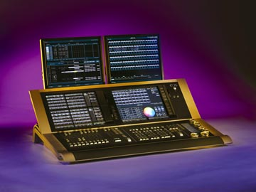 new etc lighting desks at plasa 2007 lightsoundjournal com
