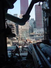 ... And Public Space Was Severely Damaged During The Collapse Of The World  Trade Center Towers. Steel Beams Rained Down On The Winter Gardenu0027s East  Side, ...