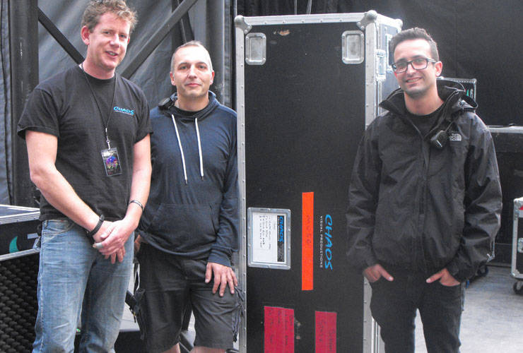 Photo caption: Left to Right: LED Engineers: John Richardson, Andy Tonks (Crew Chief) and Shane Watson.