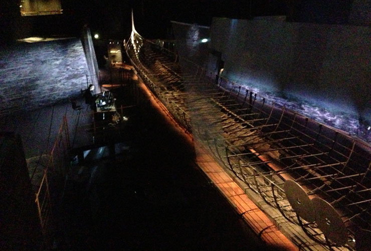 Programming the lighting at the National Museum of Denmark for the Viking exhibition.