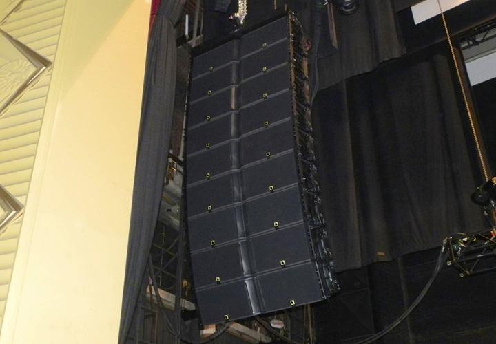 The house left array of nine L-Acoustics K2.