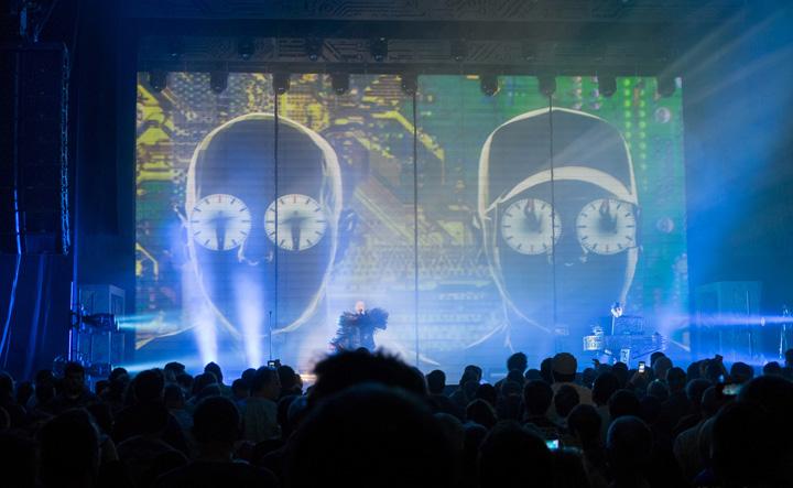 Pet Shop Boys performing at Moogfest 2014 (photo credit: Ryan Powell).