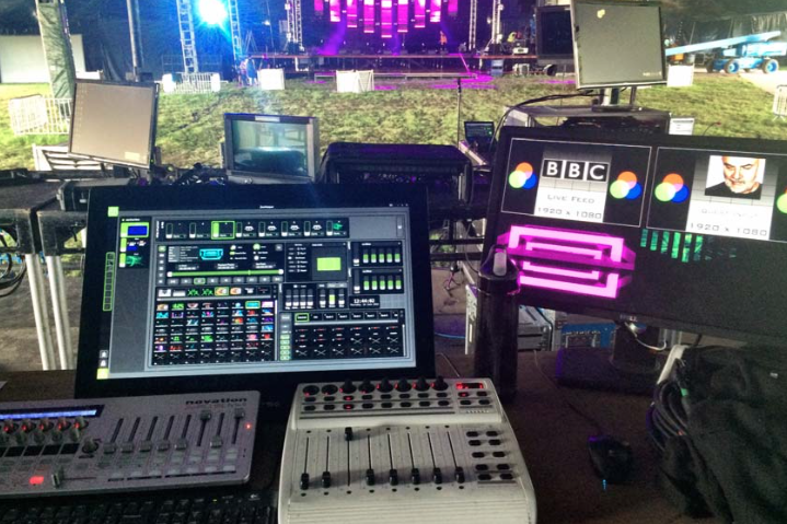 Green Hippo John Peel Stage Hippotizer V4 Glastonbury 2015