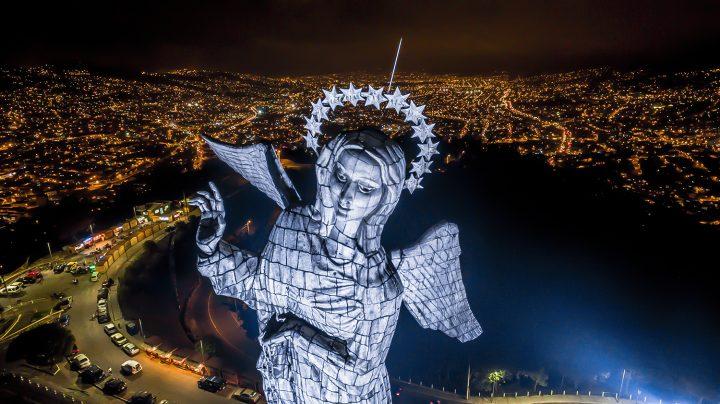 DTS Designed To Shine Ecuador Panecillo's Virgin DELTA 12 FC Salotec Luminoplastia
