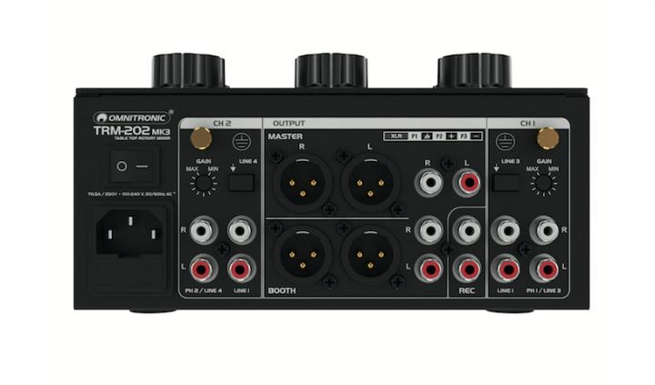 Steinigke Omnitronic TRM-202 Mk3 Rotary Mixer