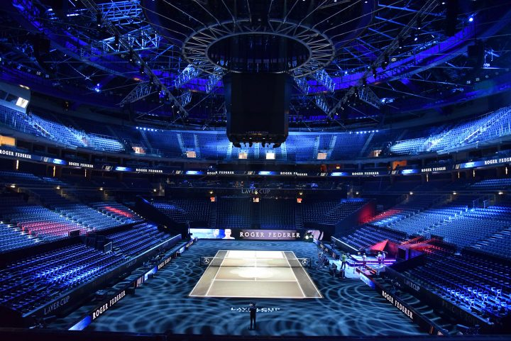 Robe BMFL moving lights – a mix of 108 x BMFL Spots, WashBeams and Wash XFs, plus 80 x Spiider LED wash beams – proved a perfect match to light the first Laver Cup international tennis tournament.