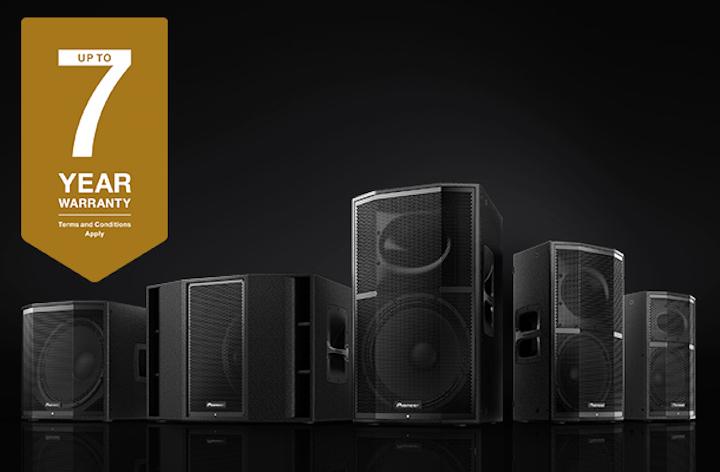 Pioneer Pro Audio Free 7 Year Warranty XPRS Series