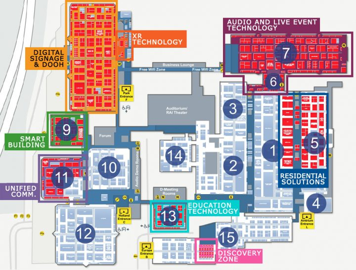 LightSoundJournal ISE 2018 Day 1 Floor Plan