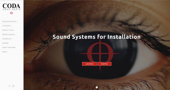 Coda Audio New Website