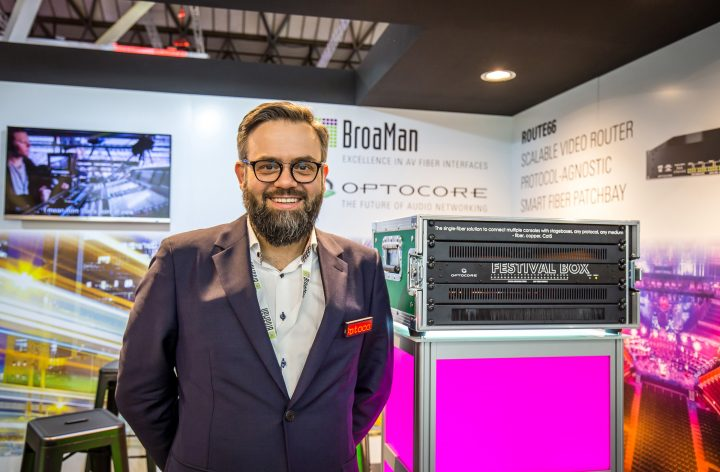 Optocore BroaMan ISE 2019 Festival Box Route66