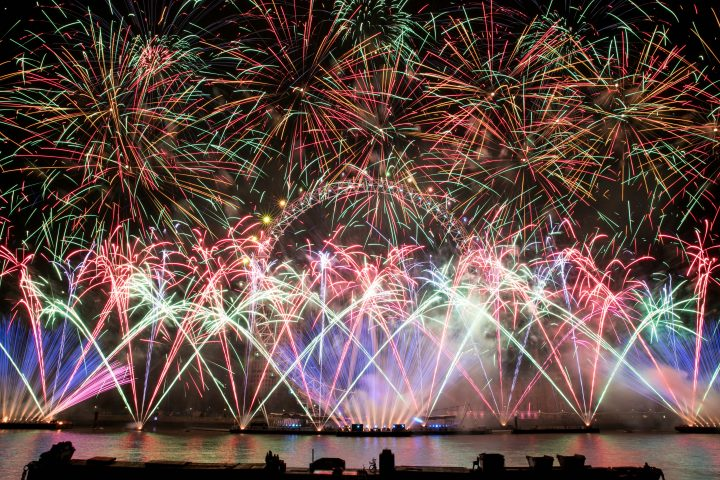 Claypaky Mythos 2 New Years Eve Firework Display London